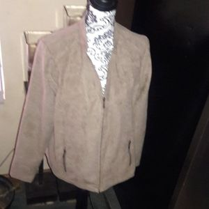 Studio Works Jackets & Coats - NEW WITH TAGS!!! Faux Suede , Color Mud Bath. Size